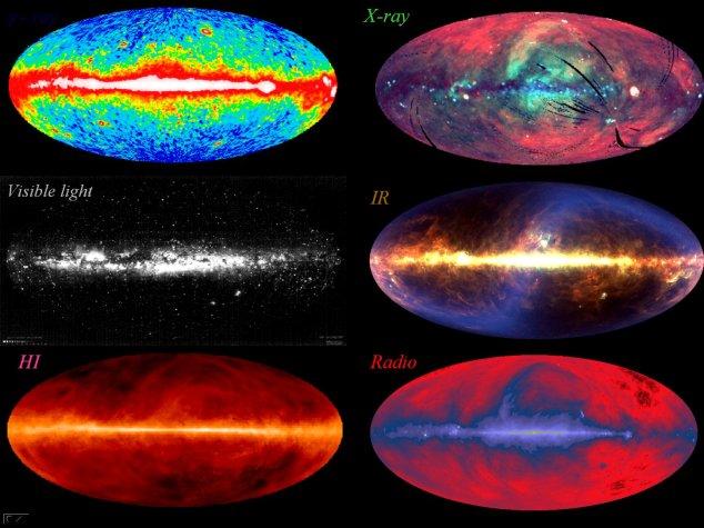 Al captar las ondas de determinadas frecuencias podemos escanear una misma parcela en el espacio y descubrir fenómenos que no se ven a simple vista